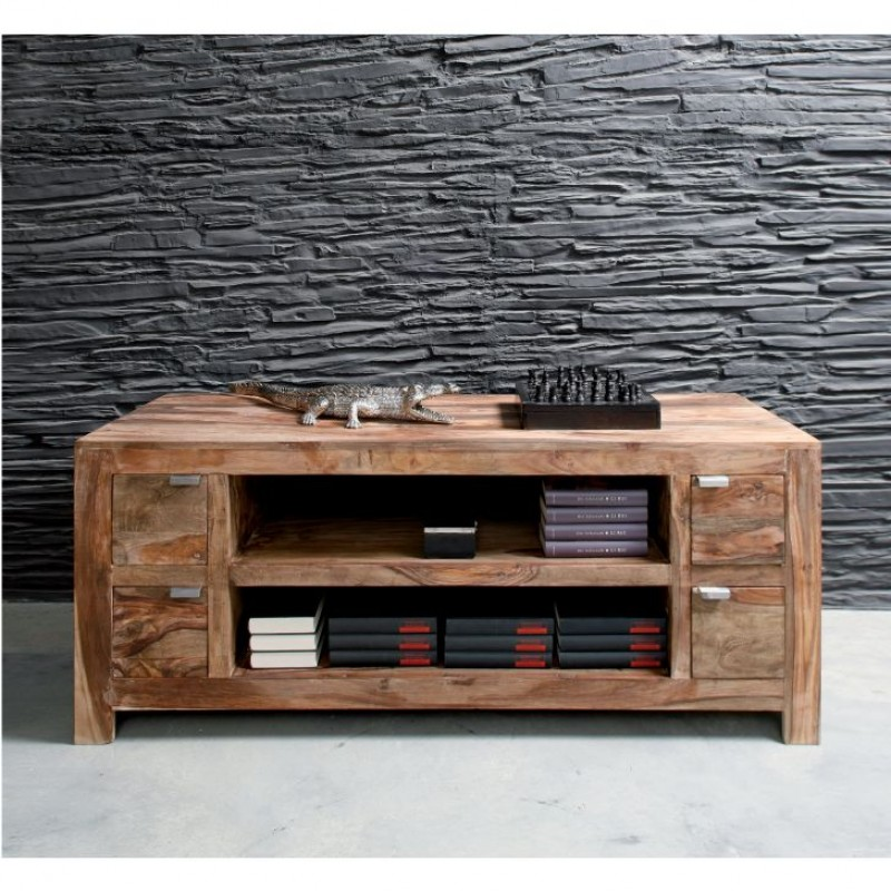Tv meubel hout authentico bestellen for Showroommodellen design meubels