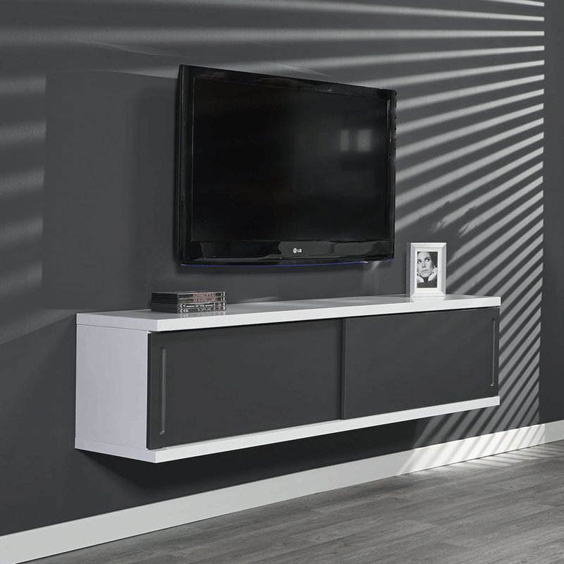 Grijs tv meubel zwevend giani laret 240 g for Showroommodellen design meubels