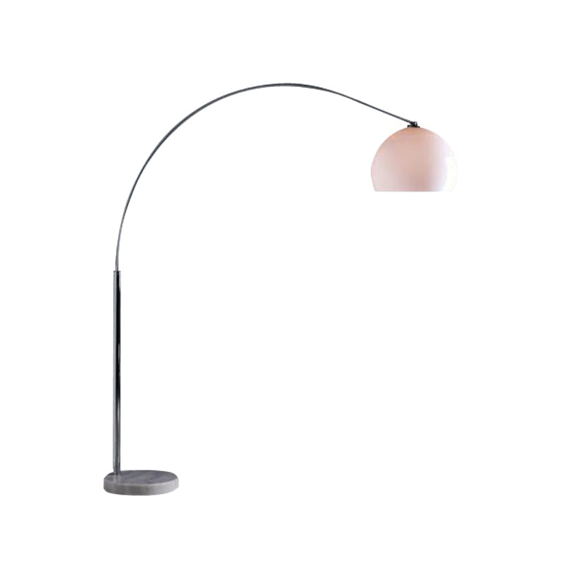 Design booglamp van verchroomd metaal