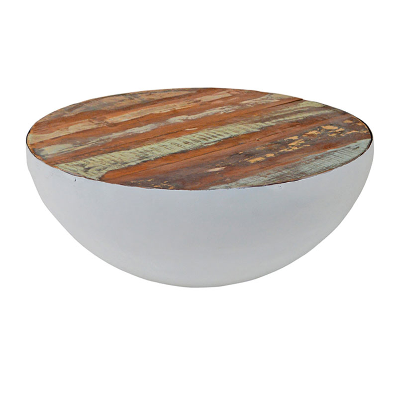 Ronde salontafel wit