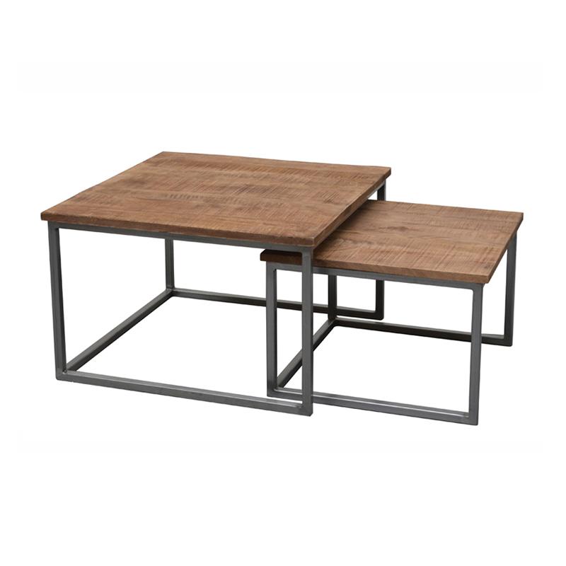 Vierkante salontafelset grijs