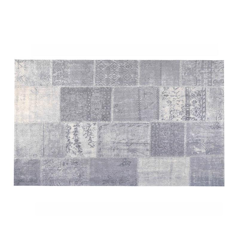Industrieel zilveren vloerkleed