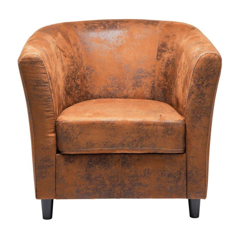 Bruine fauteuil Africano Vintage