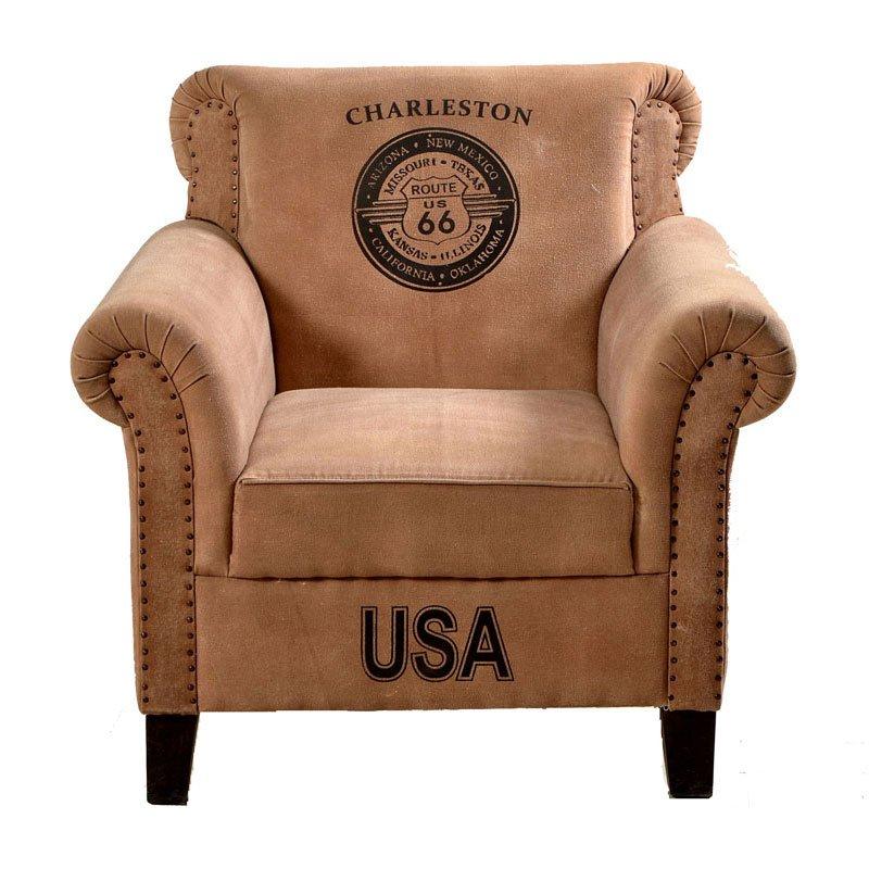 Bruine vintage fauteuil