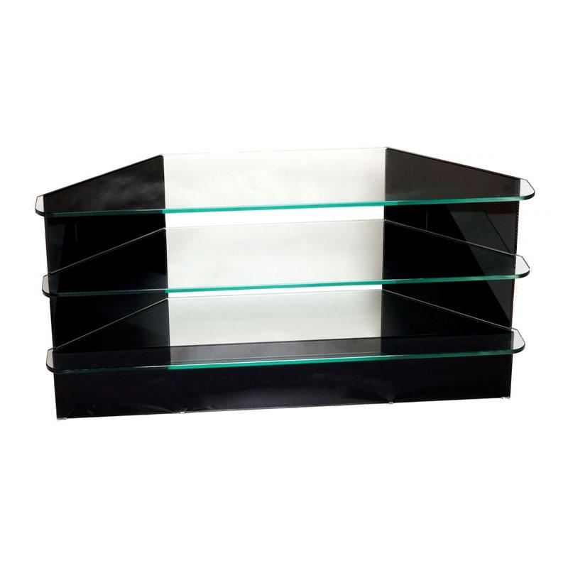 Glazen hoek tv meubel helderr malene - Tv hoek meubels ...