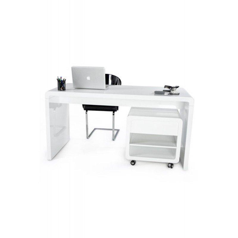 modern bureau hoogglans wit kare design club. Black Bedroom Furniture Sets. Home Design Ideas