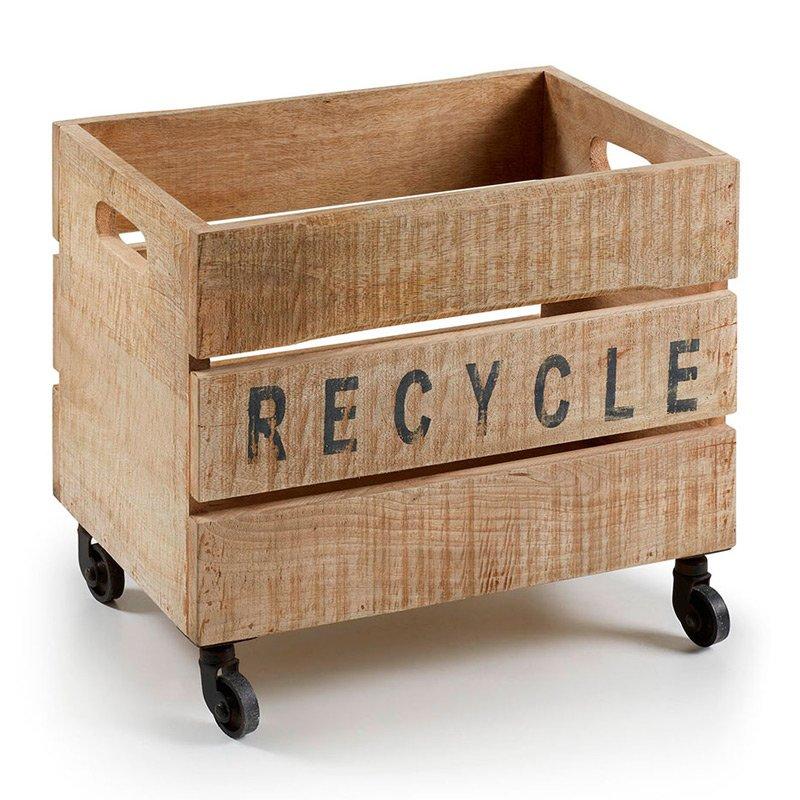 Houten kistje recycle op wielen laforma ycer - Houten doos op wielen ...