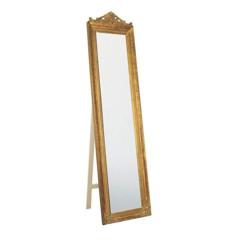 Staande barok spiegel goud kare design baroque for Barok spiegel