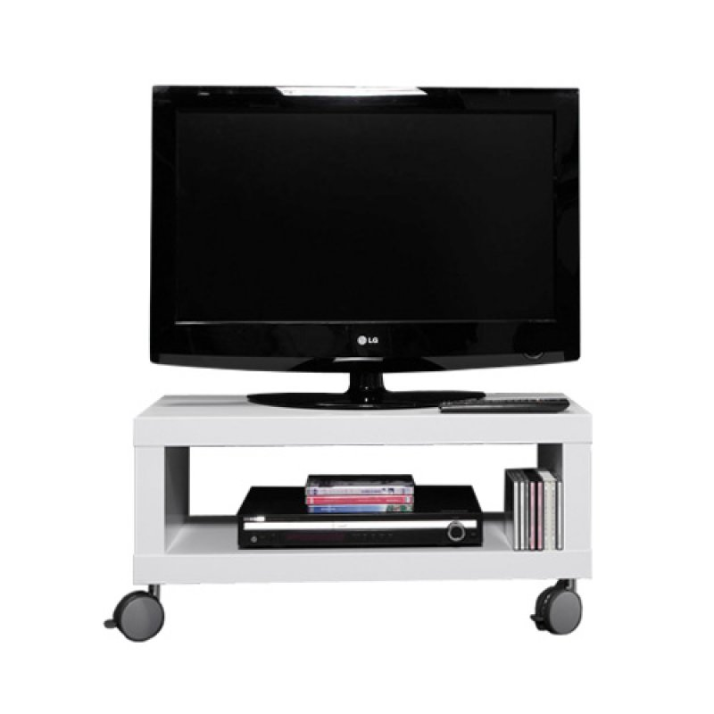 tv meubel verrijdbaar wit 80 cm giani fiore. Black Bedroom Furniture Sets. Home Design Ideas