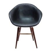 Arm stoel forum wood for Bauhaus stoel leer