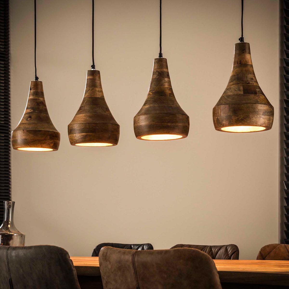 Mangohouten 4-lichts hanglamp