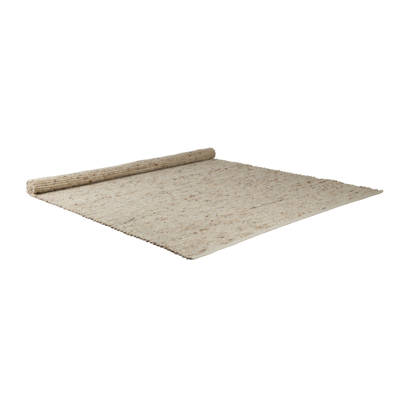 Beige handgeweven tapijt
