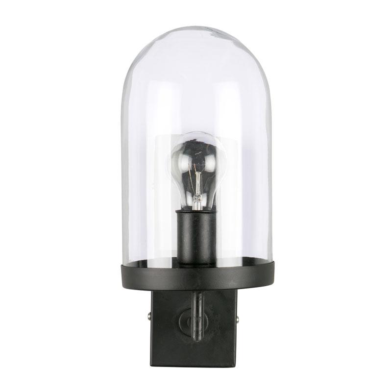 Industrieel wandlampje zwart