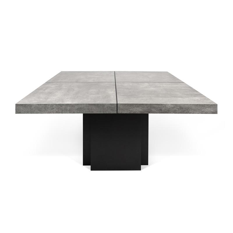 Vierkante Eettafel Met Kolompoot.Temahome Dusk Betonlook Tafel Vierkant 9500 613234 Lumz