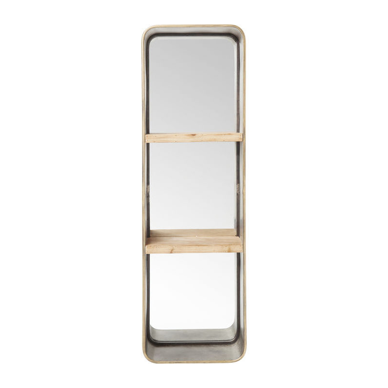 Industriele spiegel met planken