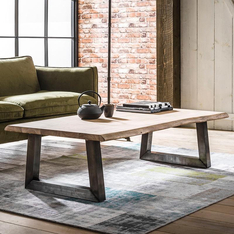 Boomstam salontafel rechthoekig