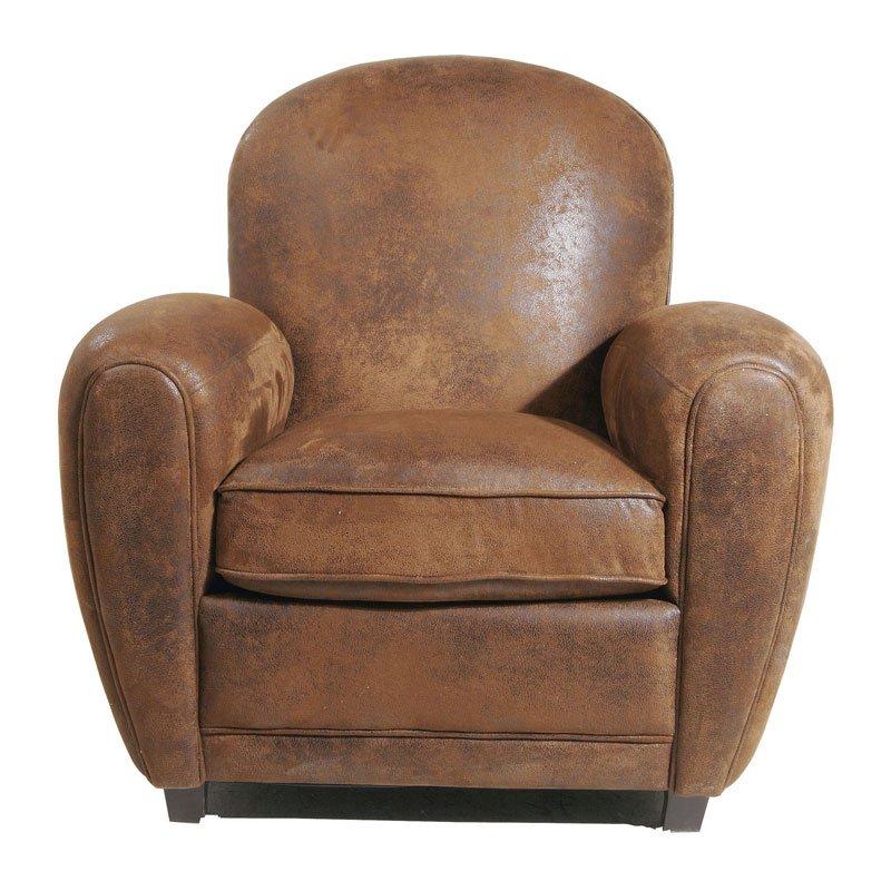 Bruine fauteuil Vintage Round