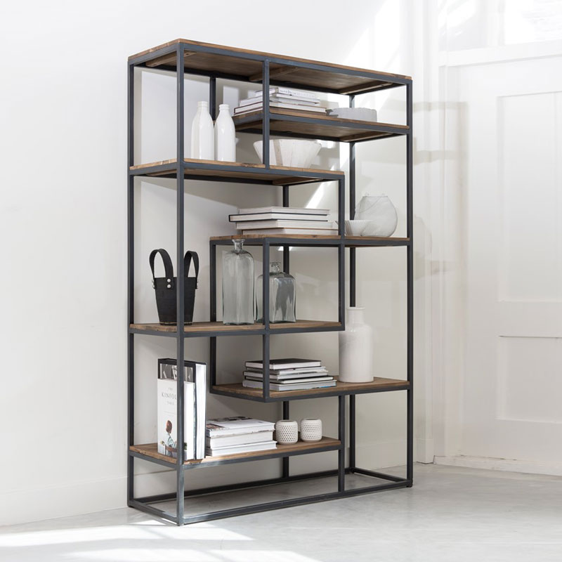 Open boekenkast van hout