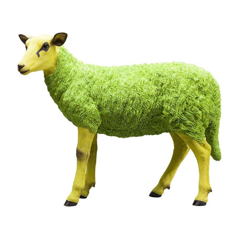 Decoratie schaap Colore Green