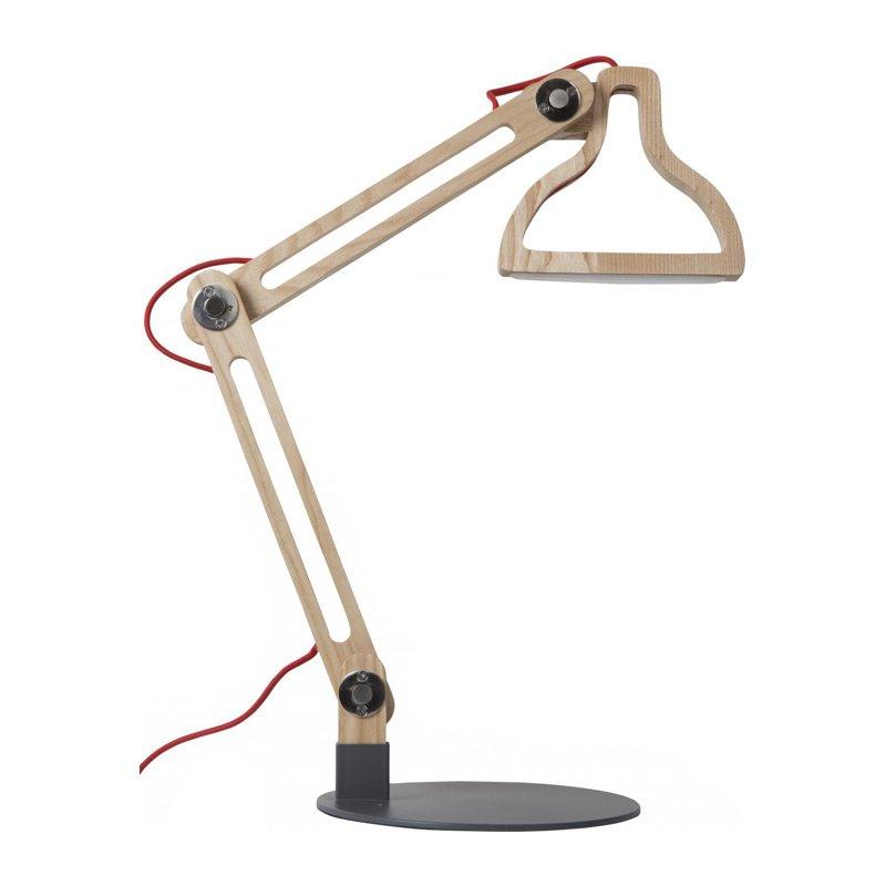 Design bureaulamp hout