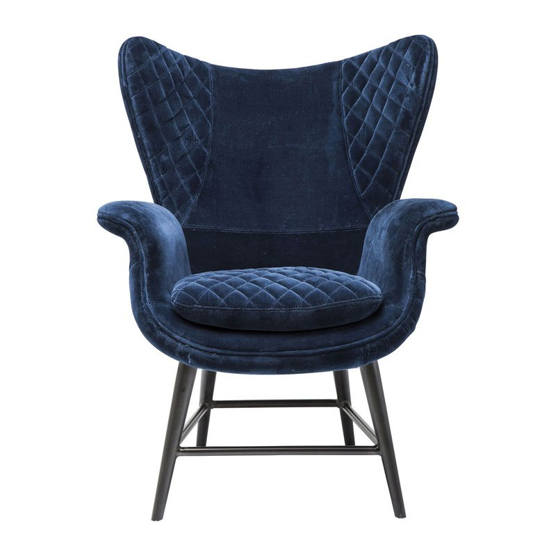 Design fauteuil fluweel Tudor Blue