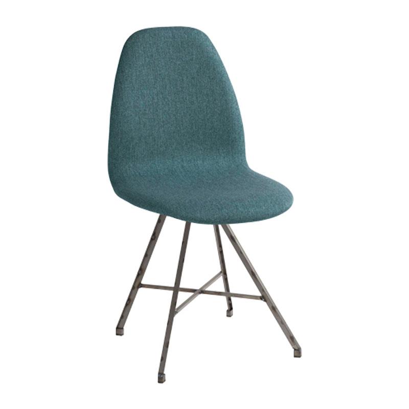 Design stoel met stalen frame