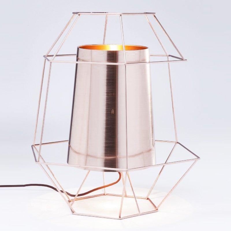 Design tafellamp Wire Copper