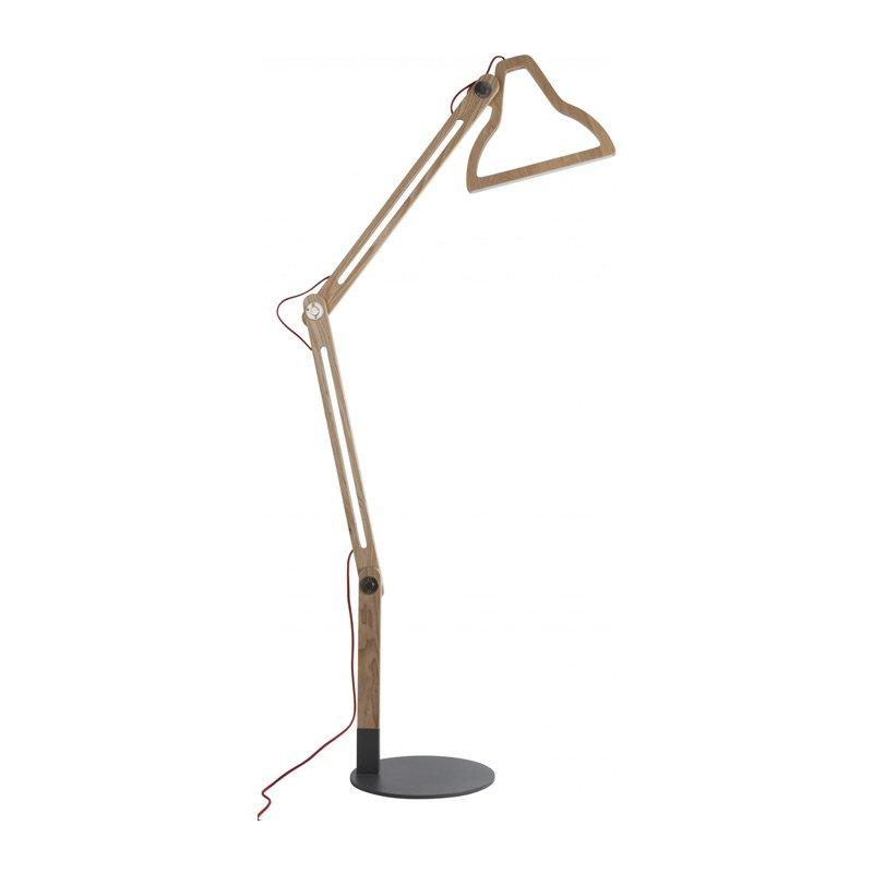 Design vloerlamp hout