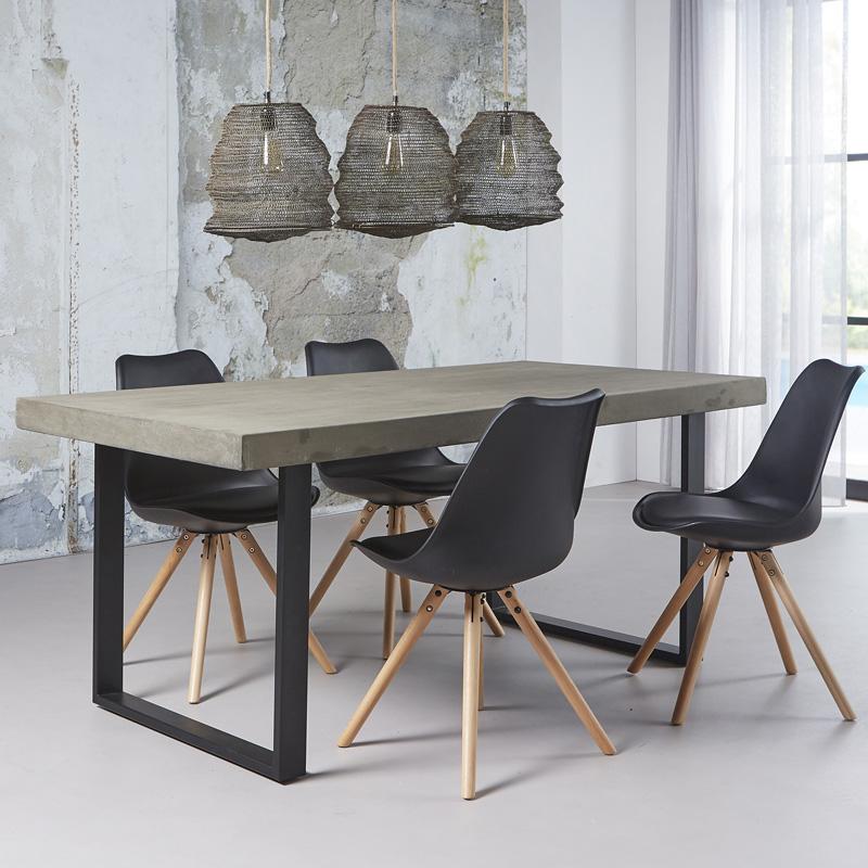 Eettafel beton en metaal giani tonzo - Eettafel beton wax ...