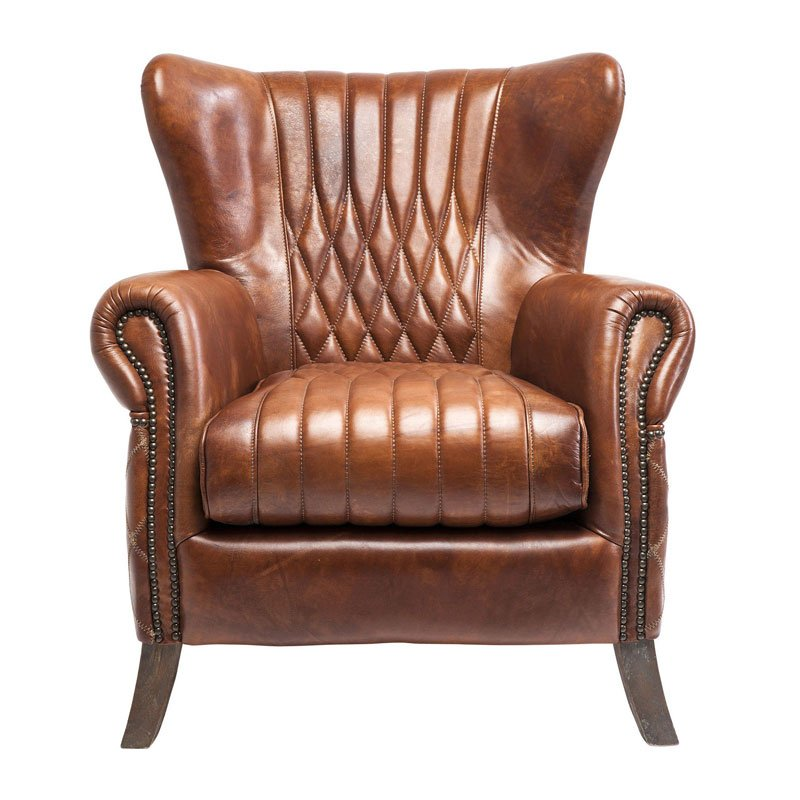 Fauteuil bruin leer Country Side