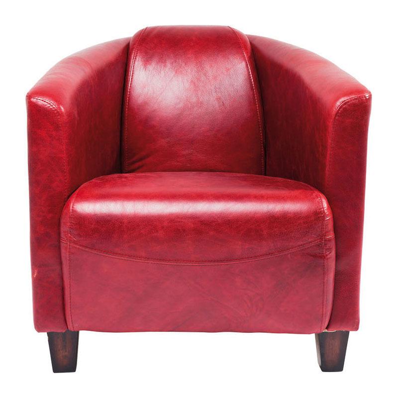Rode Fauteuil Leer.Kare Design Cigar Lounge Rode Fauteuil Van Leer Lumz Nl