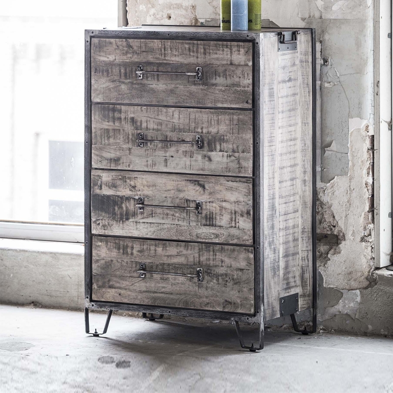 Verrassend Giani Tor | Ladekast vintage met 4 lades | Onlinedesignmeubel AL-16
