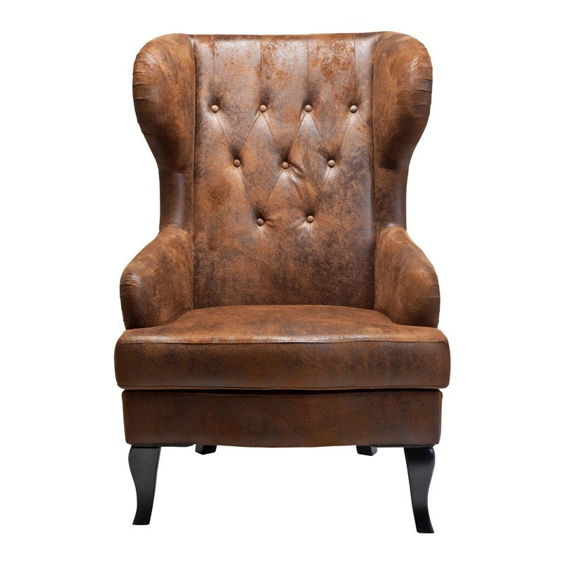 Grote fauteuil bruin Vintage