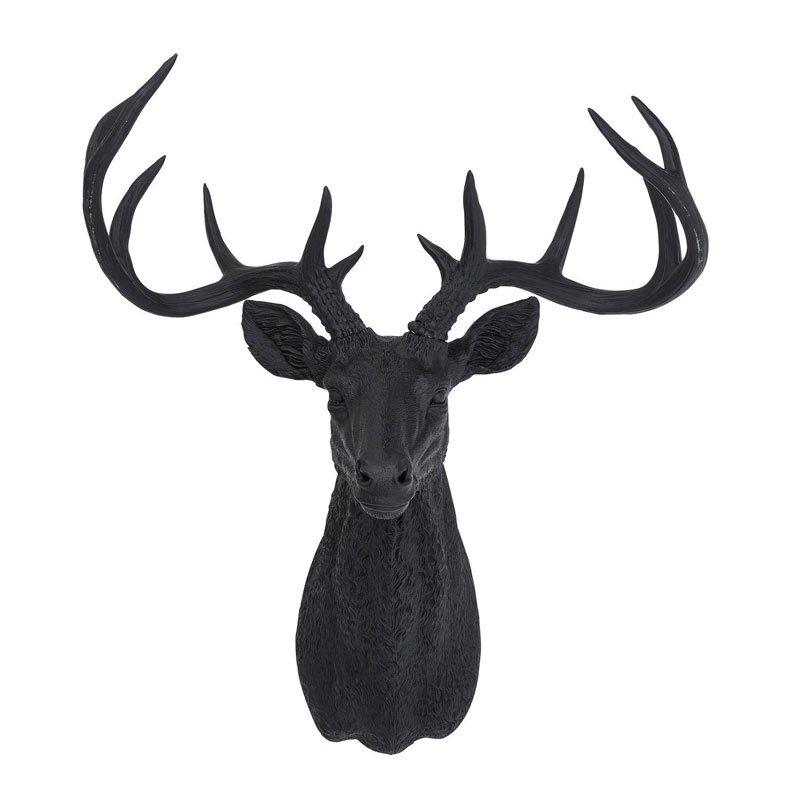 Grote hertenkop Deer Rubber Black