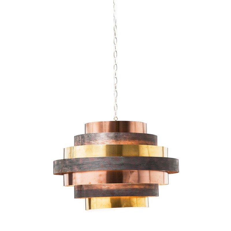 Hanglamp koper en messing