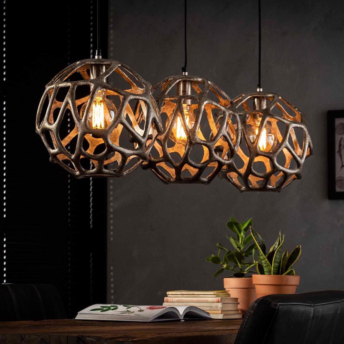 Hanglamp open bollen 3-delig