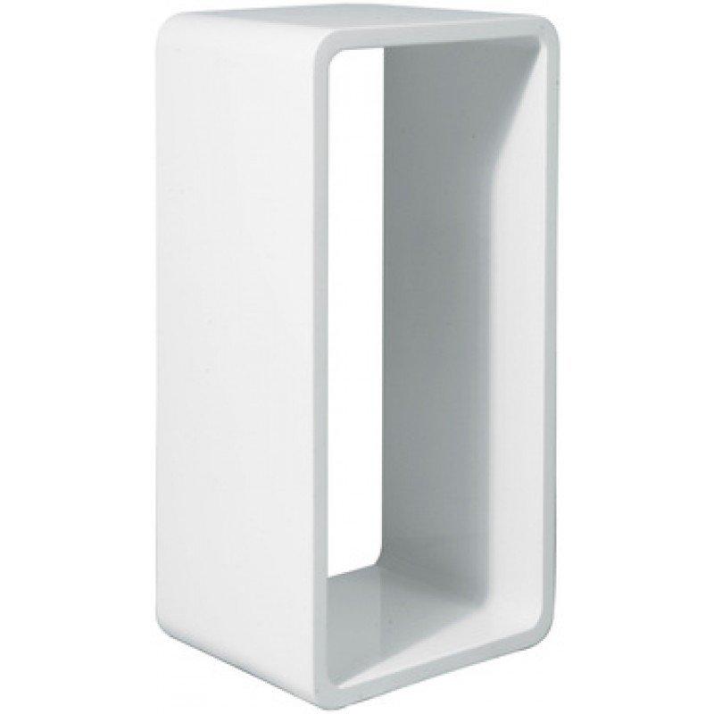 Hoogglans wandrek Cube wit XL
