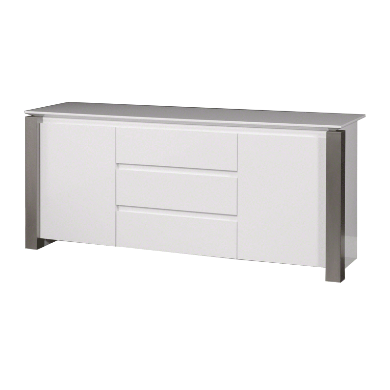 Beste Hoogglans wit dressoir Giani Isere 190 | Onlinedesignmeubel.nl AU-46