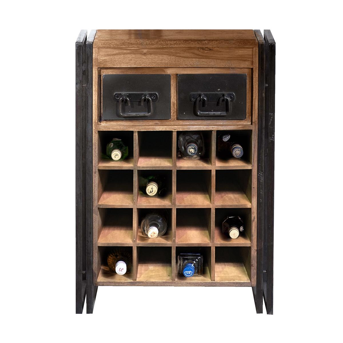 Industriele wijnkast met lades