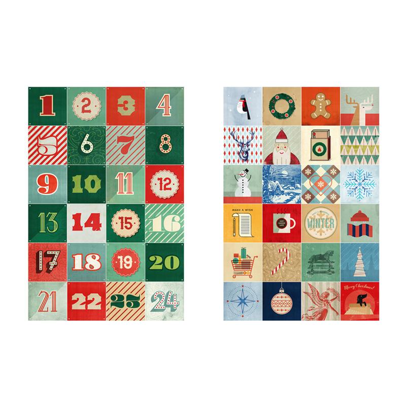 Aftelkalender kerst wanddecoratie