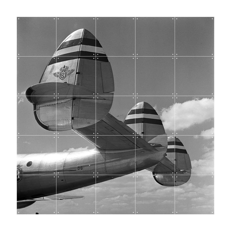 Muurdecoratie van staart vliegtuig