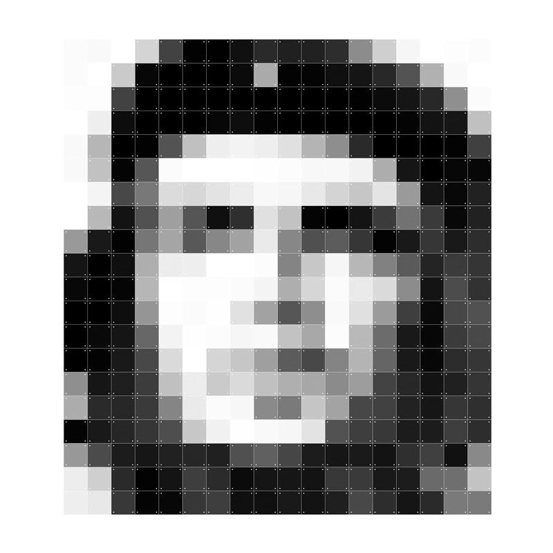 Pixel decoratie Che Guevara
