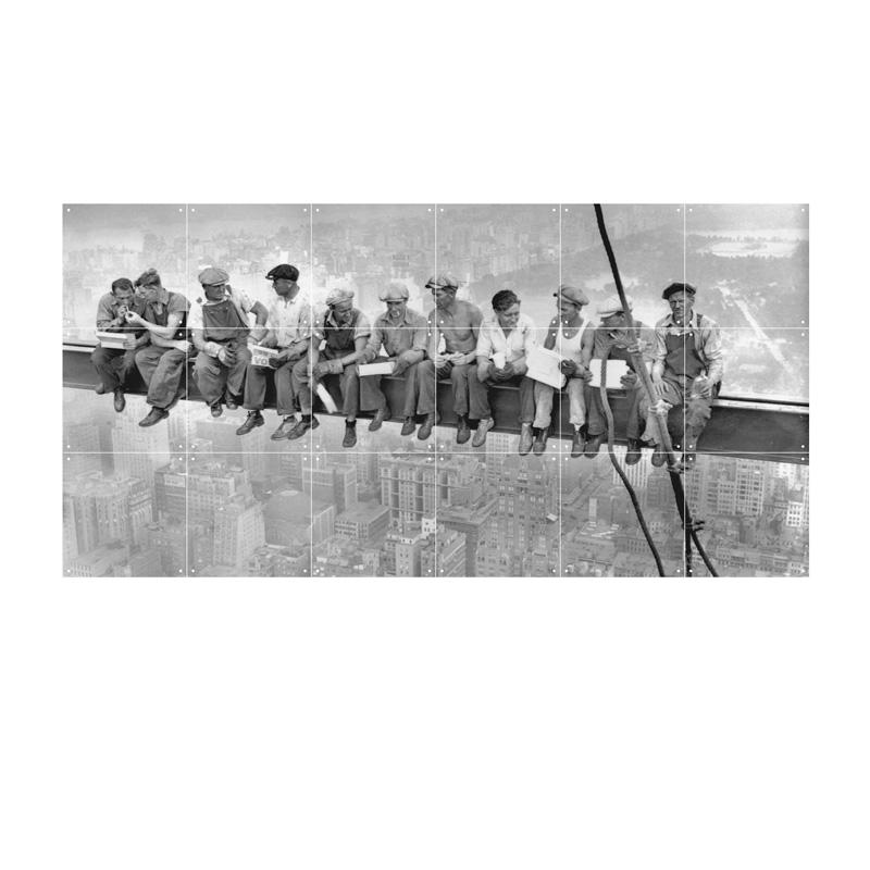 Muurdecoratie bouwvakkers