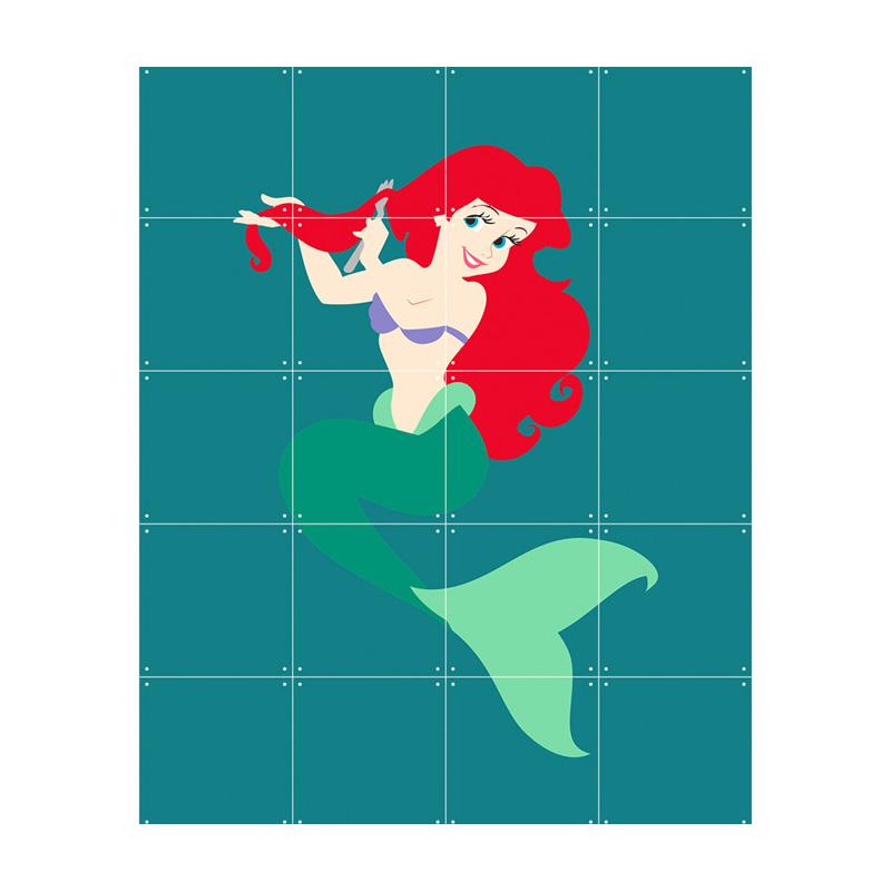 Muurdecoratie prinses Ariel