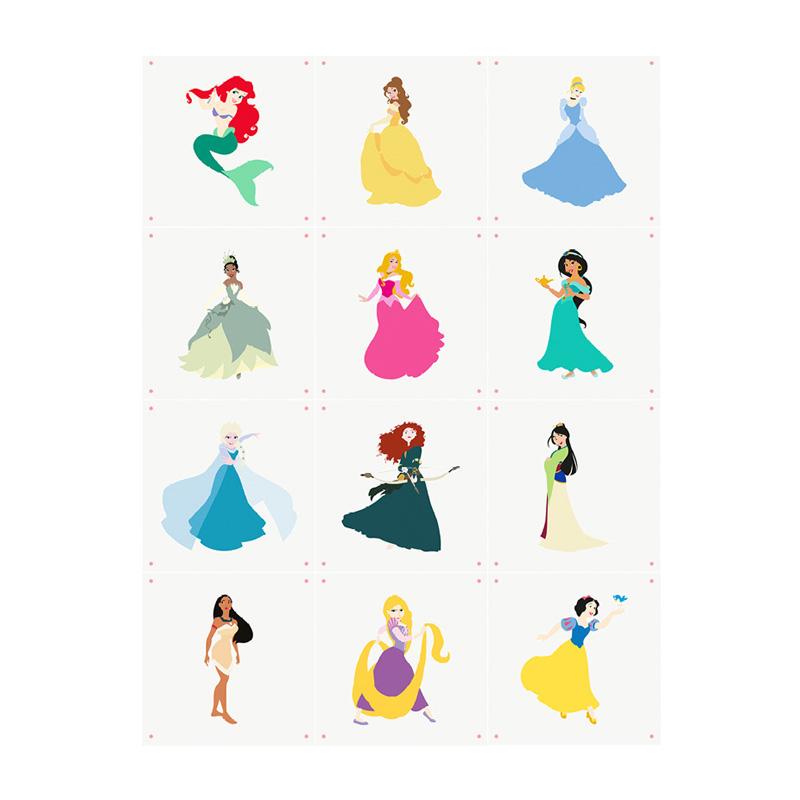 Muurdecoratie prinsessen