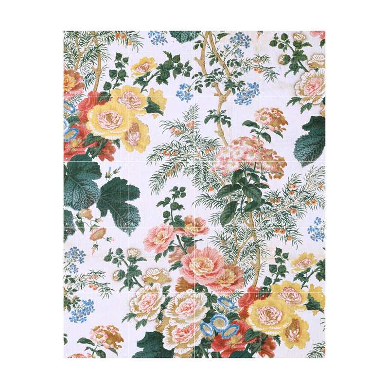 Muurdecoratie met bloemen