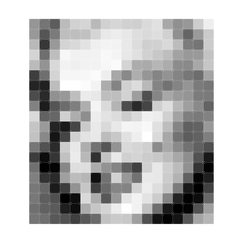Pixel decoratie van Marilyn