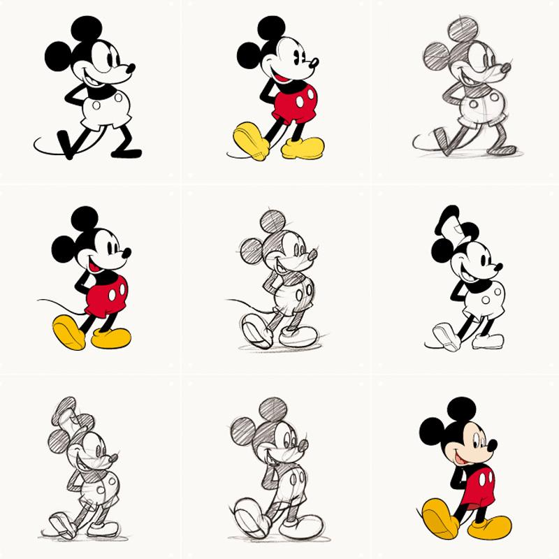 Muurdecoratie Mickey Mouse