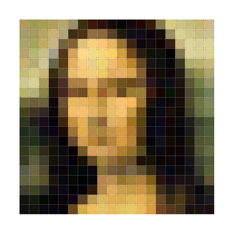 Pixel wanddecoratie Mona Lisa