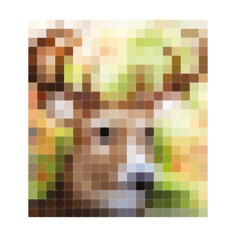 Pixel wanddecoratie hert